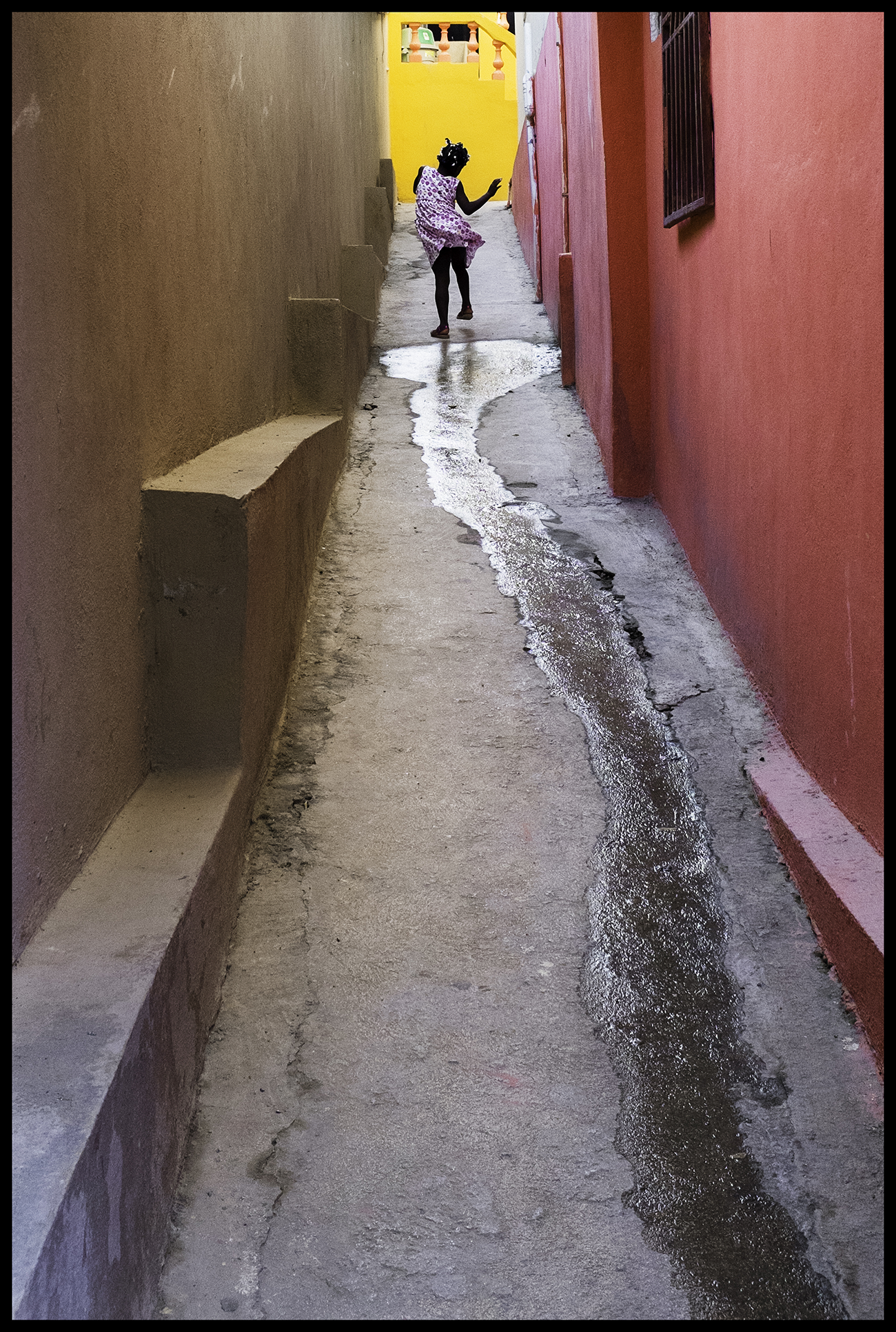 Girl Dancing in Alley