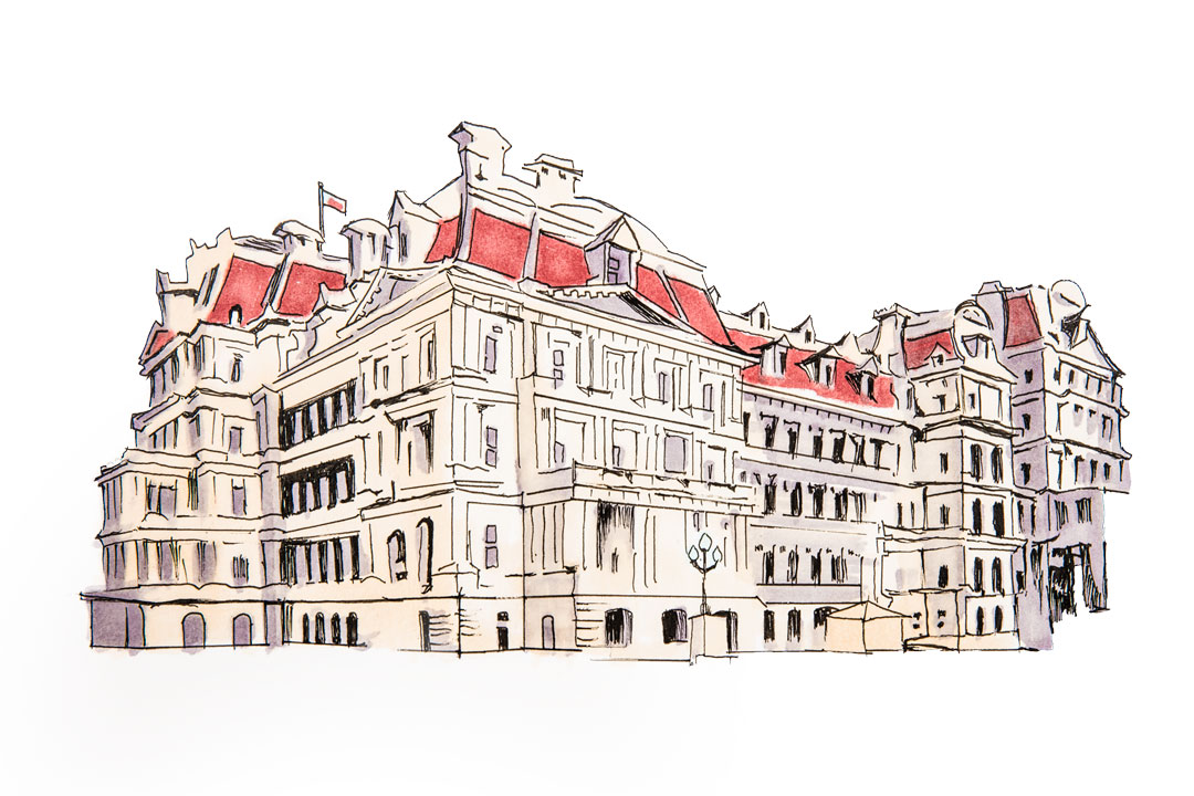 sketch of the Eisenhower Executive Office building