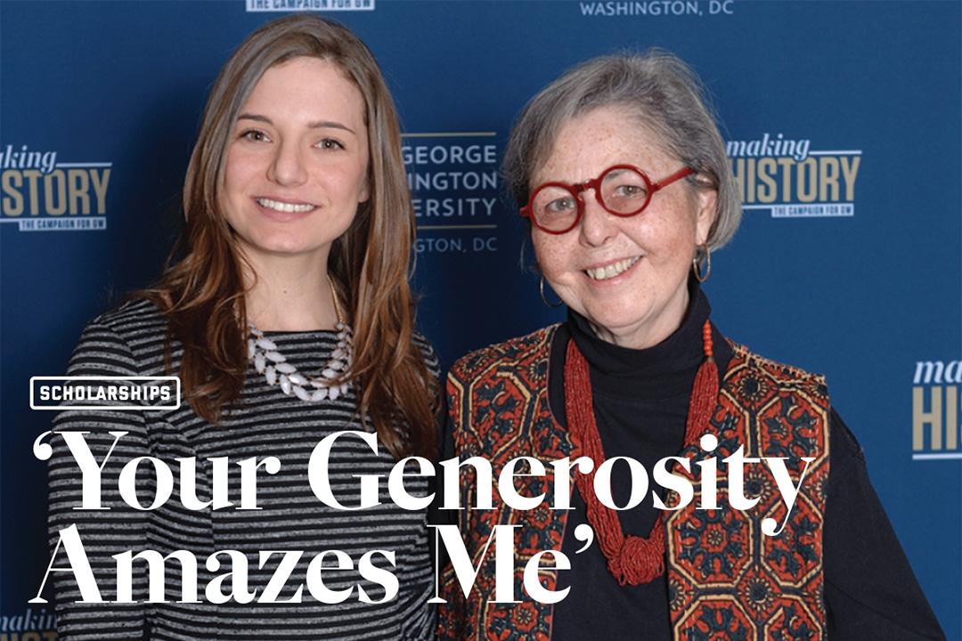 Your generosity amazes me