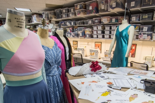 Photo of the GW costume shop