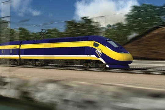 a high-speed train