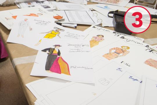 costume design drawings